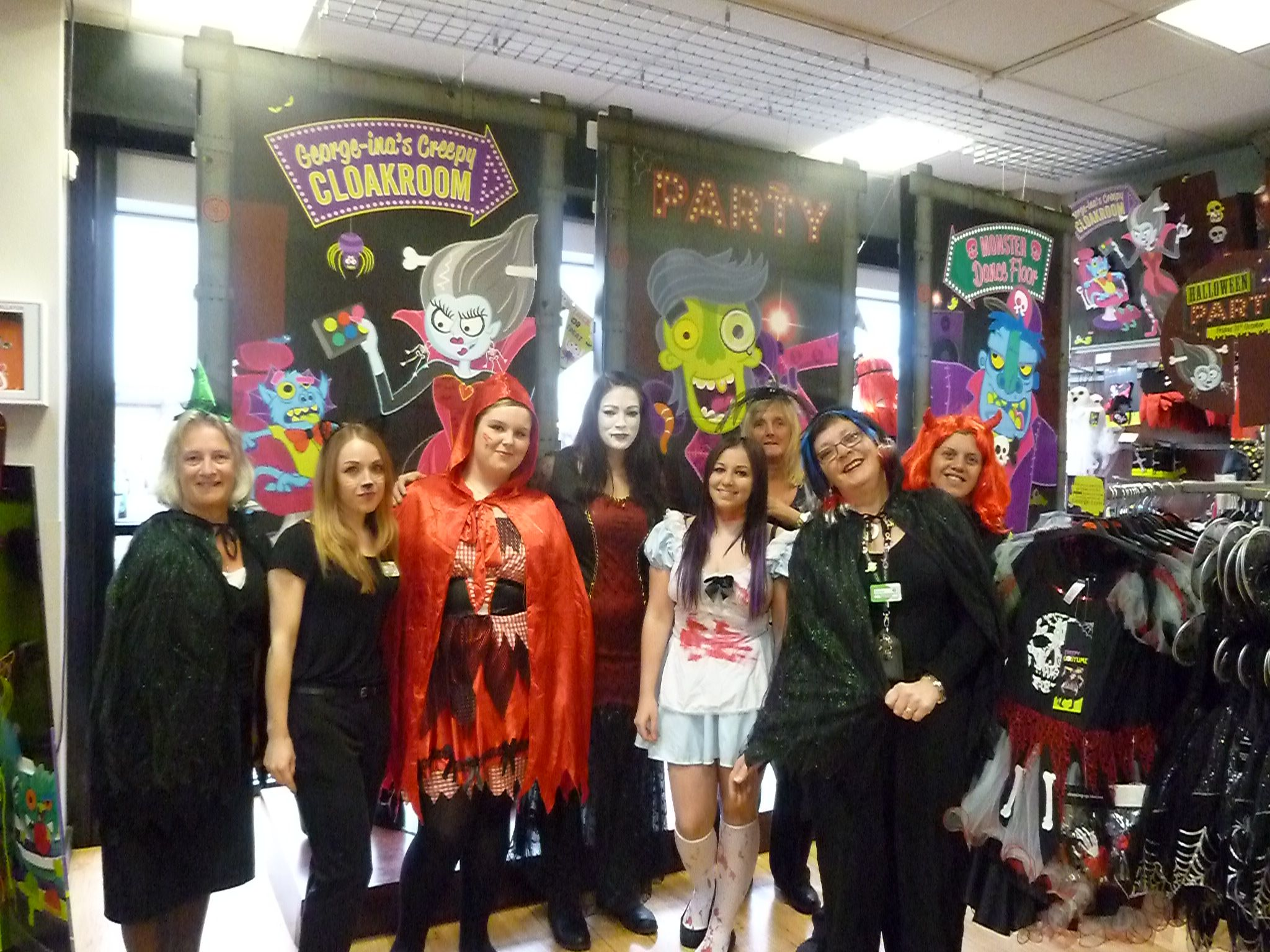 Our Living Altrincham colleagues are all set for Halloween