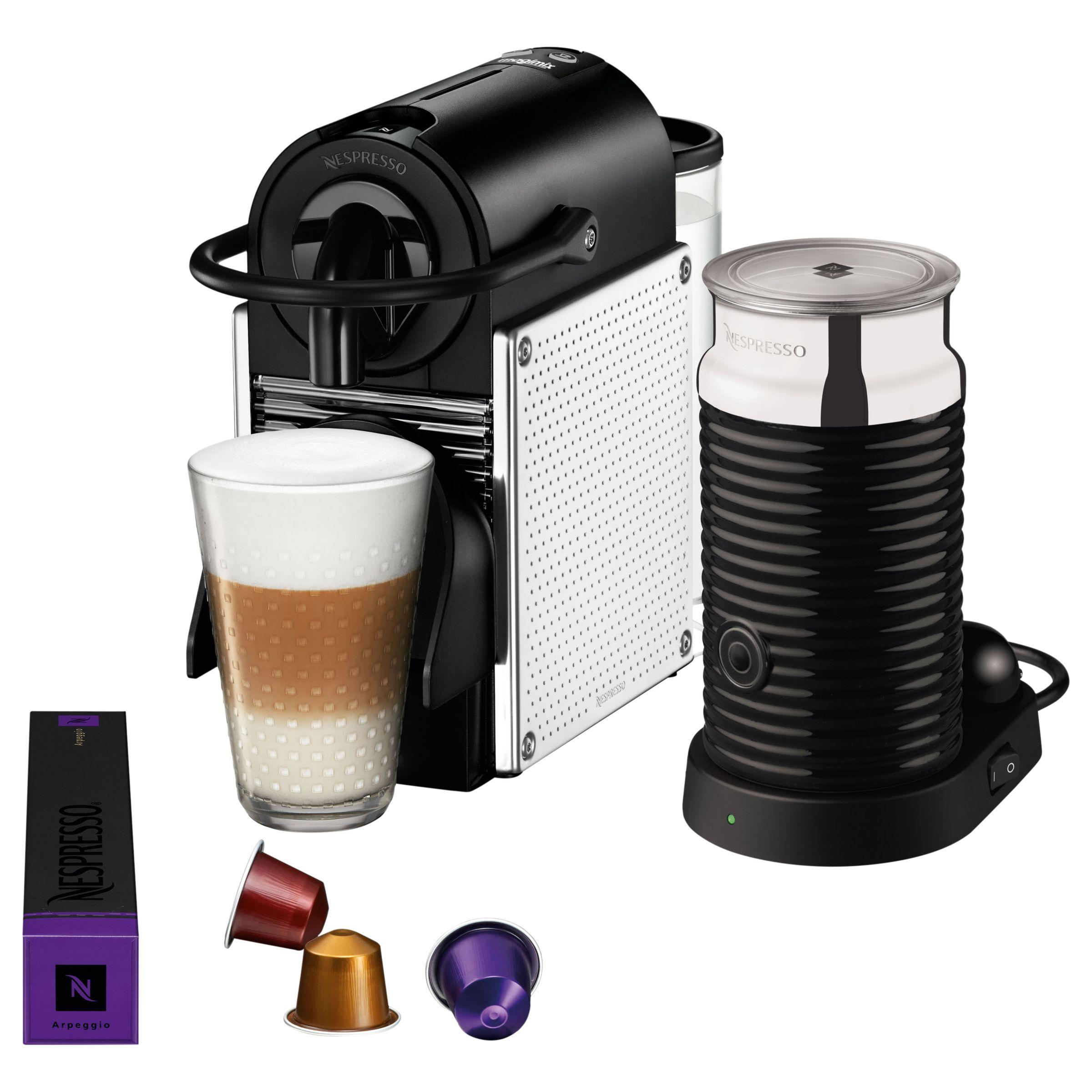 Nespresso Pixie Coffee Machine with Aeroccino by Magimix