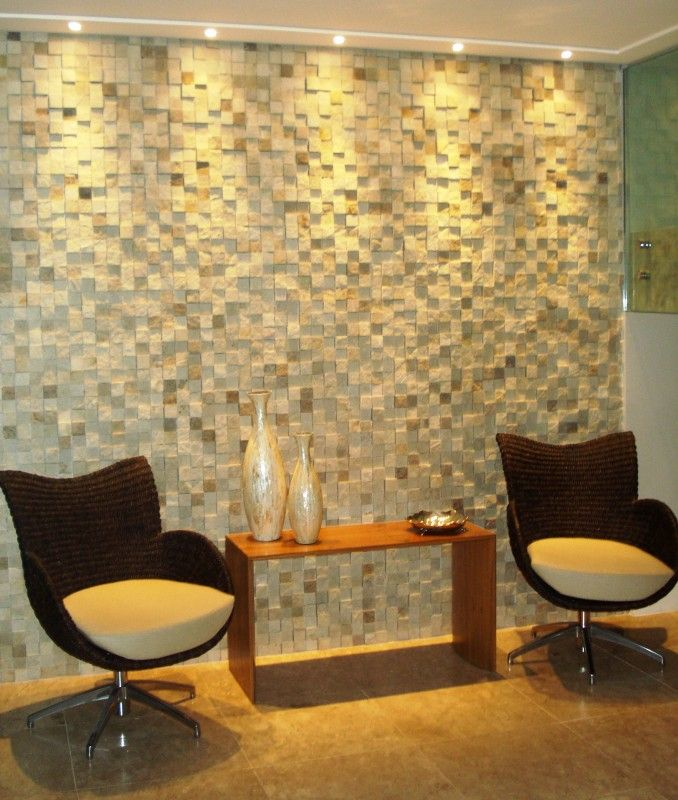 Revestimento parede 3d ambiente hall pinterest for Revestimento 3d sala de estar