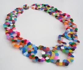 "Karola Torkos ""Fool's Gold"" Confetti Jewelry necklace"