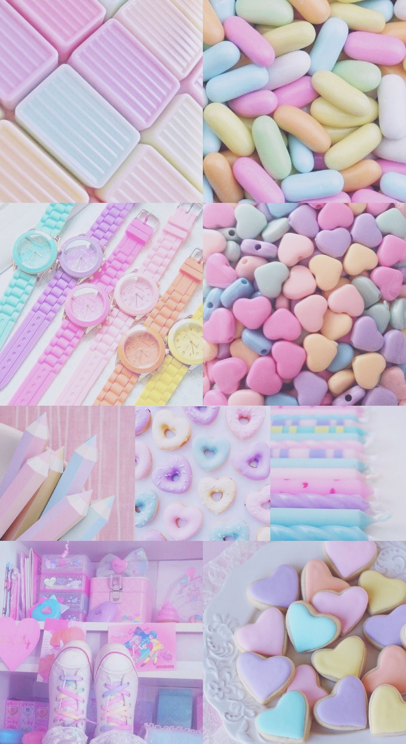 Wallpaper Background Hd Pastel Rainbow Pink Blue Purple