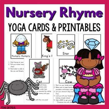 nursery rhyme yoga cards  nursery rhymes music lessons