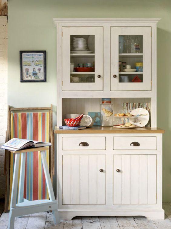 Steamer-Bay-muebles-cocina-madera-pintada-envejecida Lugares y - muebles para cocina de madera