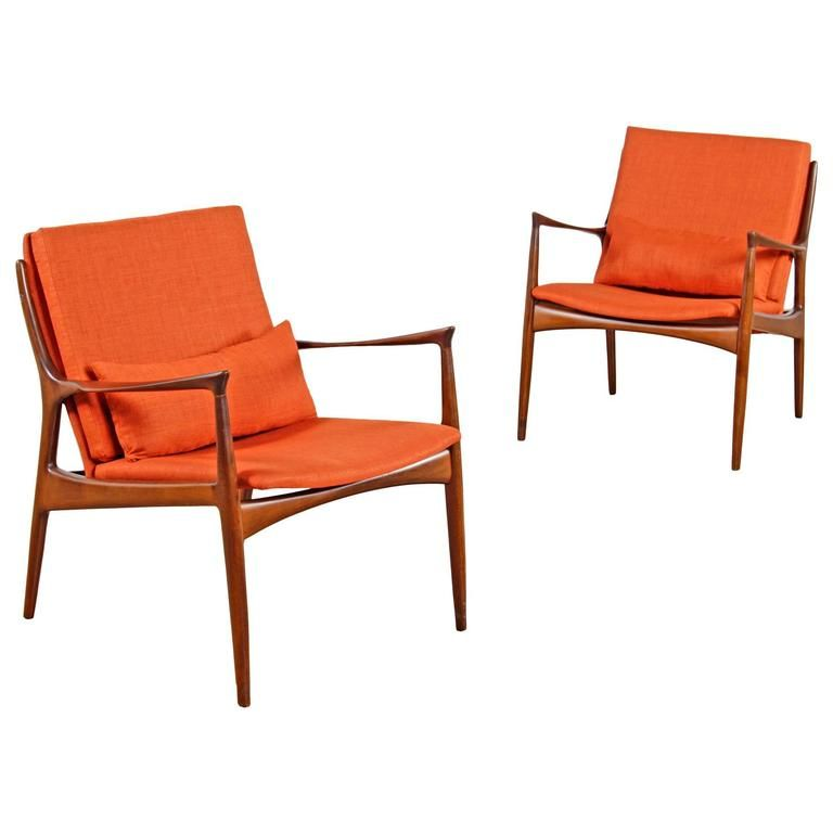 Pair of Restored Mid-Century Mølgaard and Hvidt Chairs   From a unique collection of antique and modern armchairs at https://www.1stdibs.com/furniture/seating/armchairs/