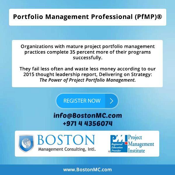 Pmi Pfmp Portfolio Management Professional Certification Exam