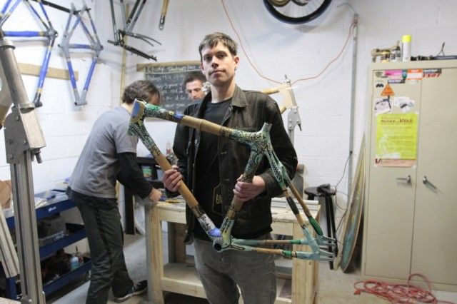 Bicycle frames made from bamboo...sustainable, strong, and DIY.