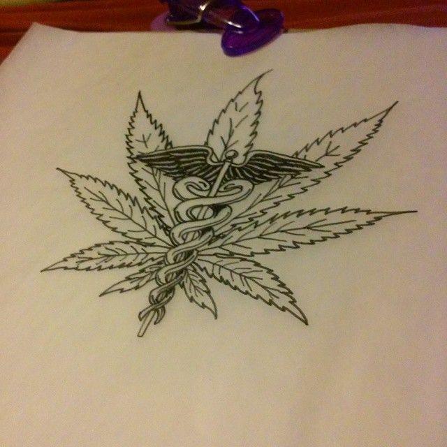 Pin On Weed Tattoo Flash