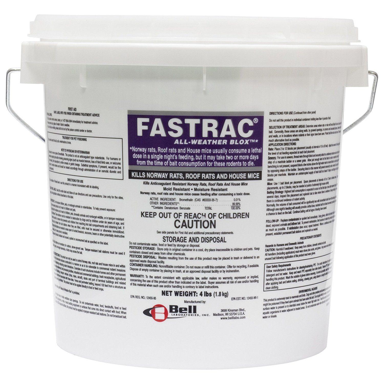 Fastrac Blox 4 Lb Blocks Rats, Pest control, Roof rats