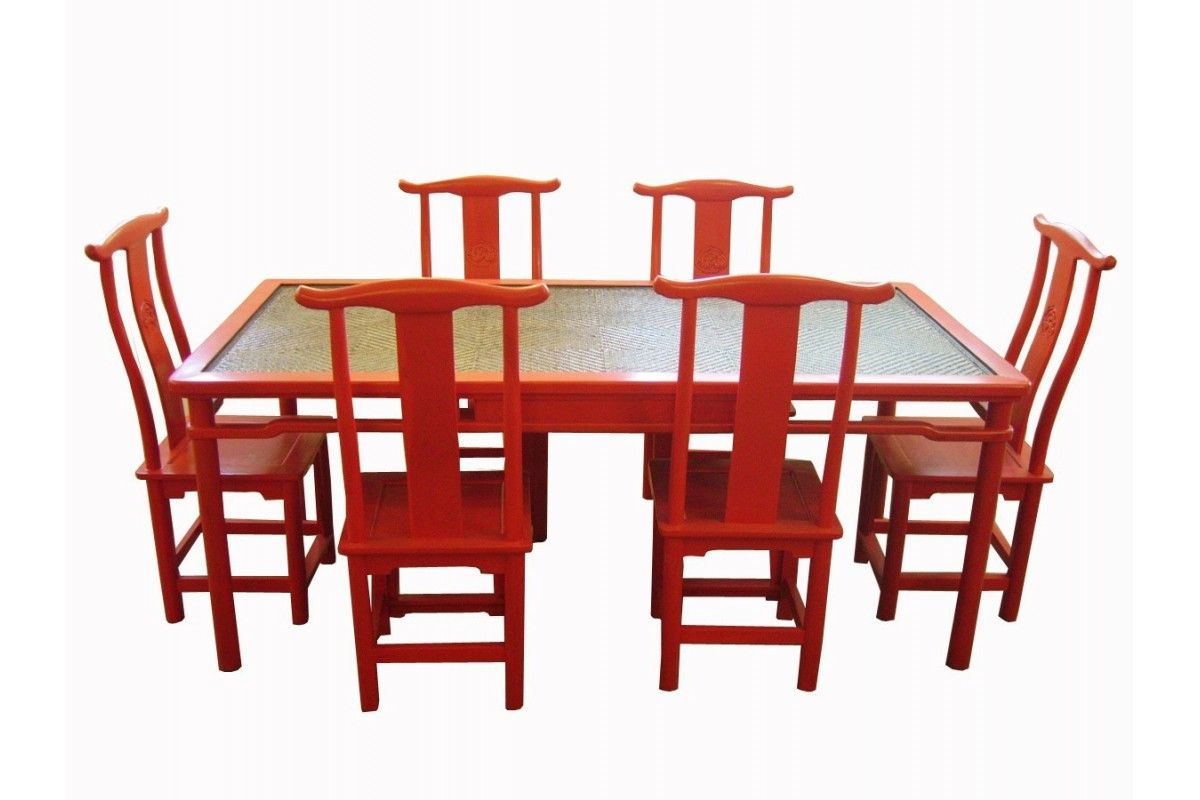 Table Rouge Chinois Chaises Chinoises Simple Paire De Chaises Chinoises En