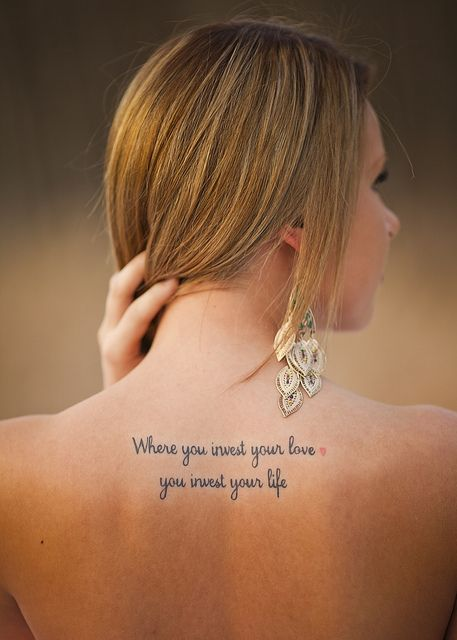 Tattoo Spruche Englisch.Where You Invest Your Love Kleine Tattoos Ideen Tattoo