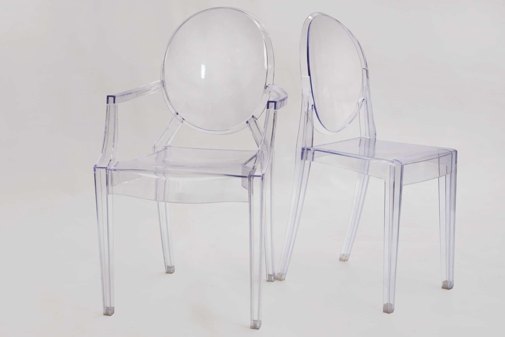 Victoria Ghost Chair ΚαρέκΠα Philippe Starck plexiglass διάφανη