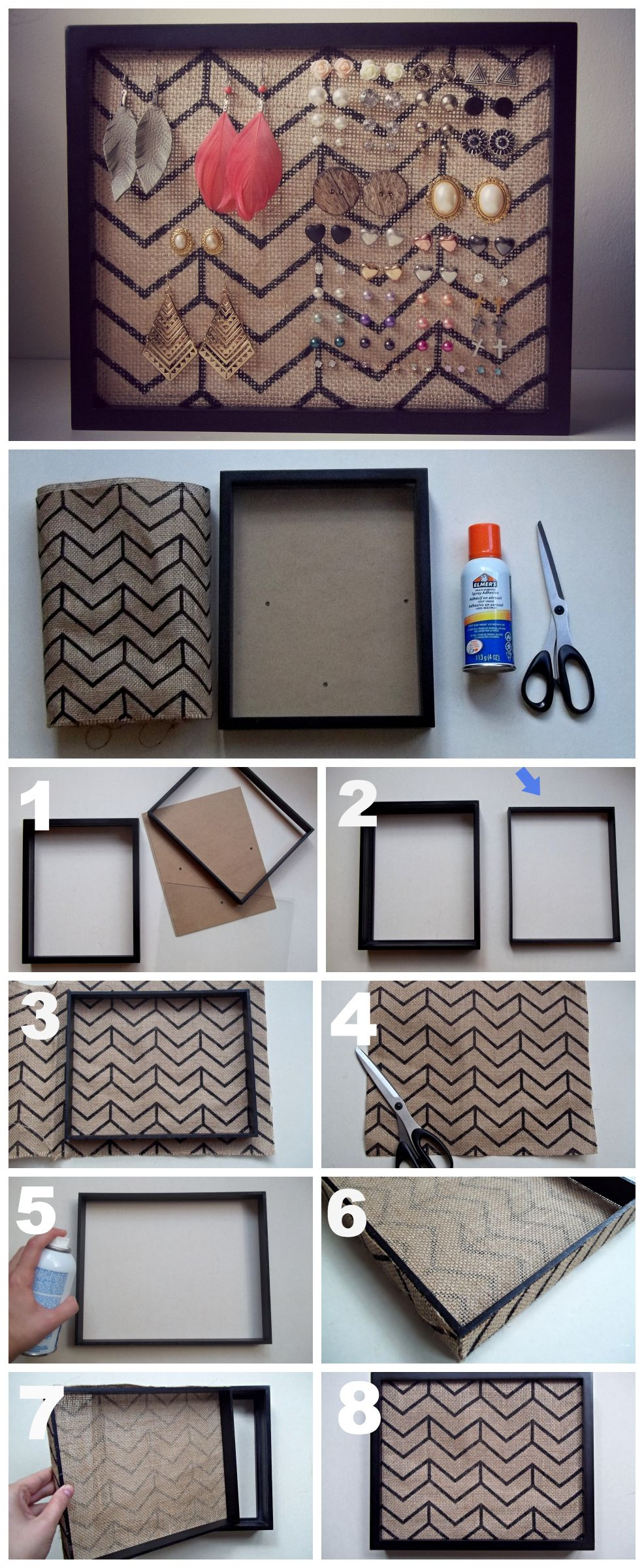 Earring Holder Diy Tutorial Great For Studs Diy Jewelry
