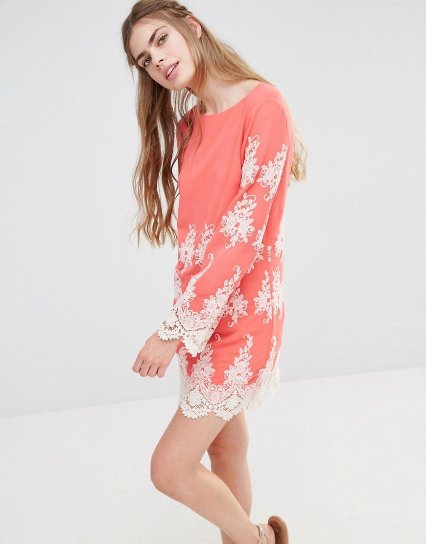 0897d3b25b11 Image 1 of Endless Rose Lace Long Sleeve Mini Dress | ASOS | Long ...