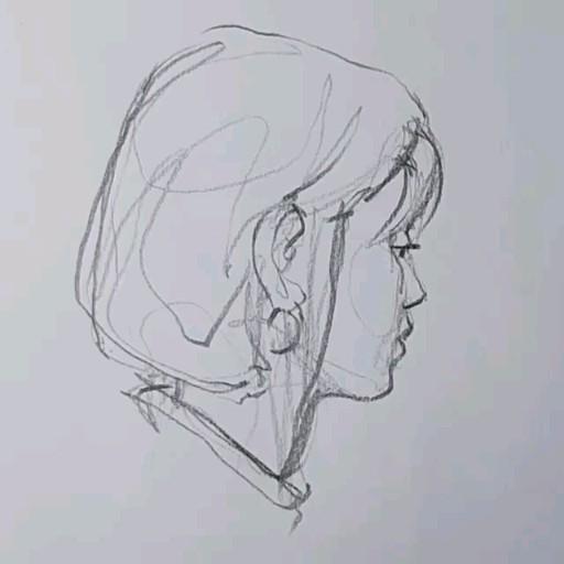 Photo of Портрет девушка в карандаше идея для зарисовки художественный эскиз голова человека профиль уши нос