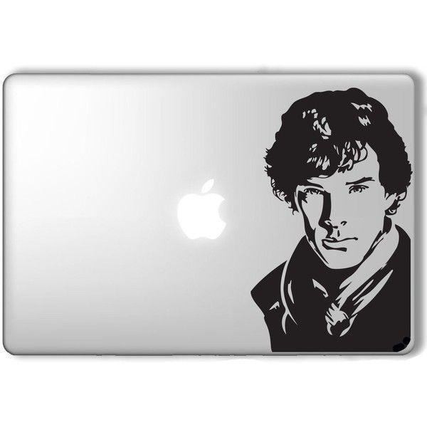 Sherlock Holmes Apple Macbook Laptop Vinyl Sticker Decal  Liked - Vinyl stickers for laptops