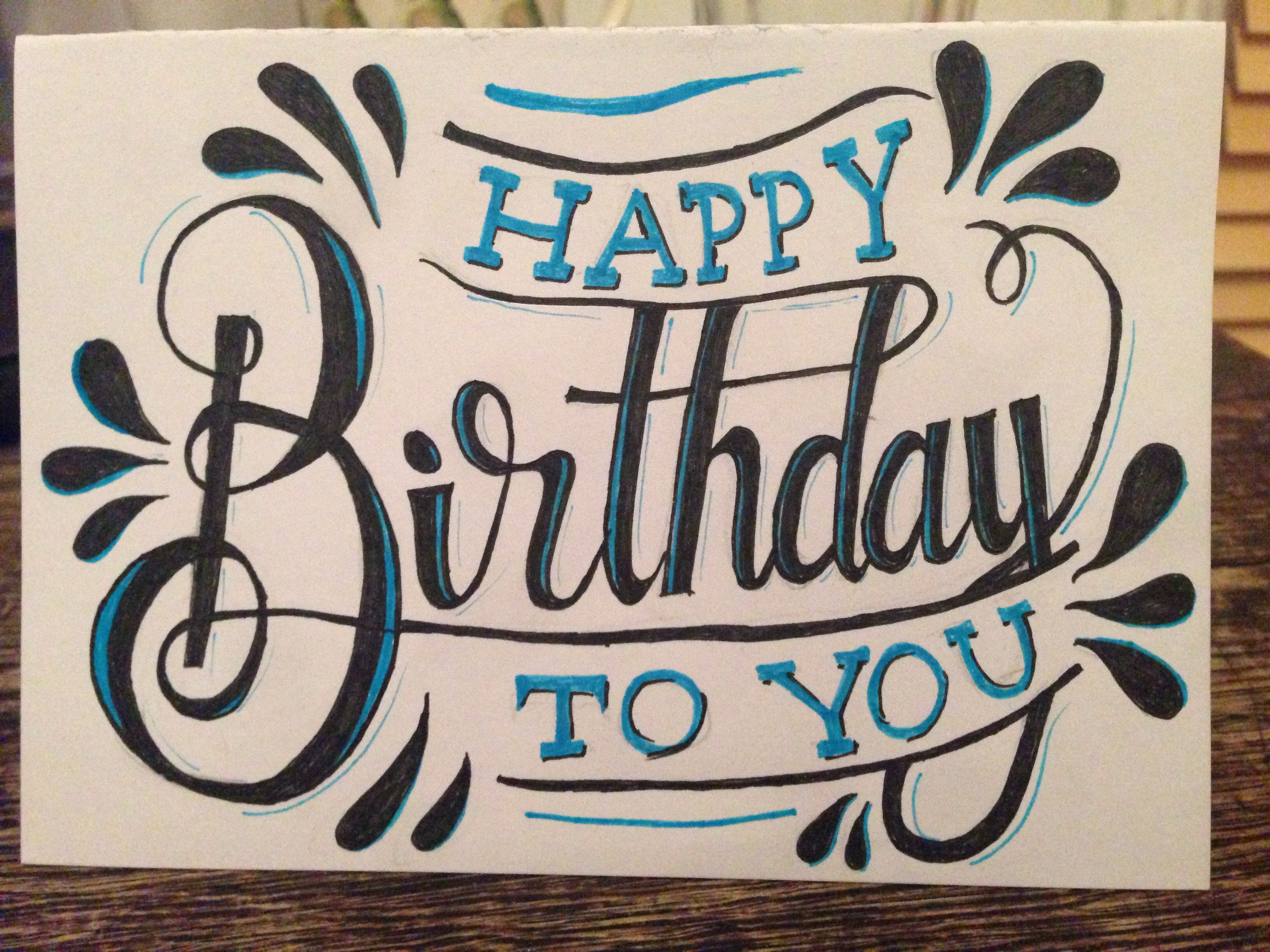 Hand Made Birthday Card For Brother Birthday Card Drawing Cool Birthday Cards Birthday Card Craft