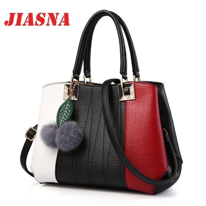 Handbags Women Bags Fashion Crossbody Bag For Women Handbag Ladies Patchwork Soft PU Leather
