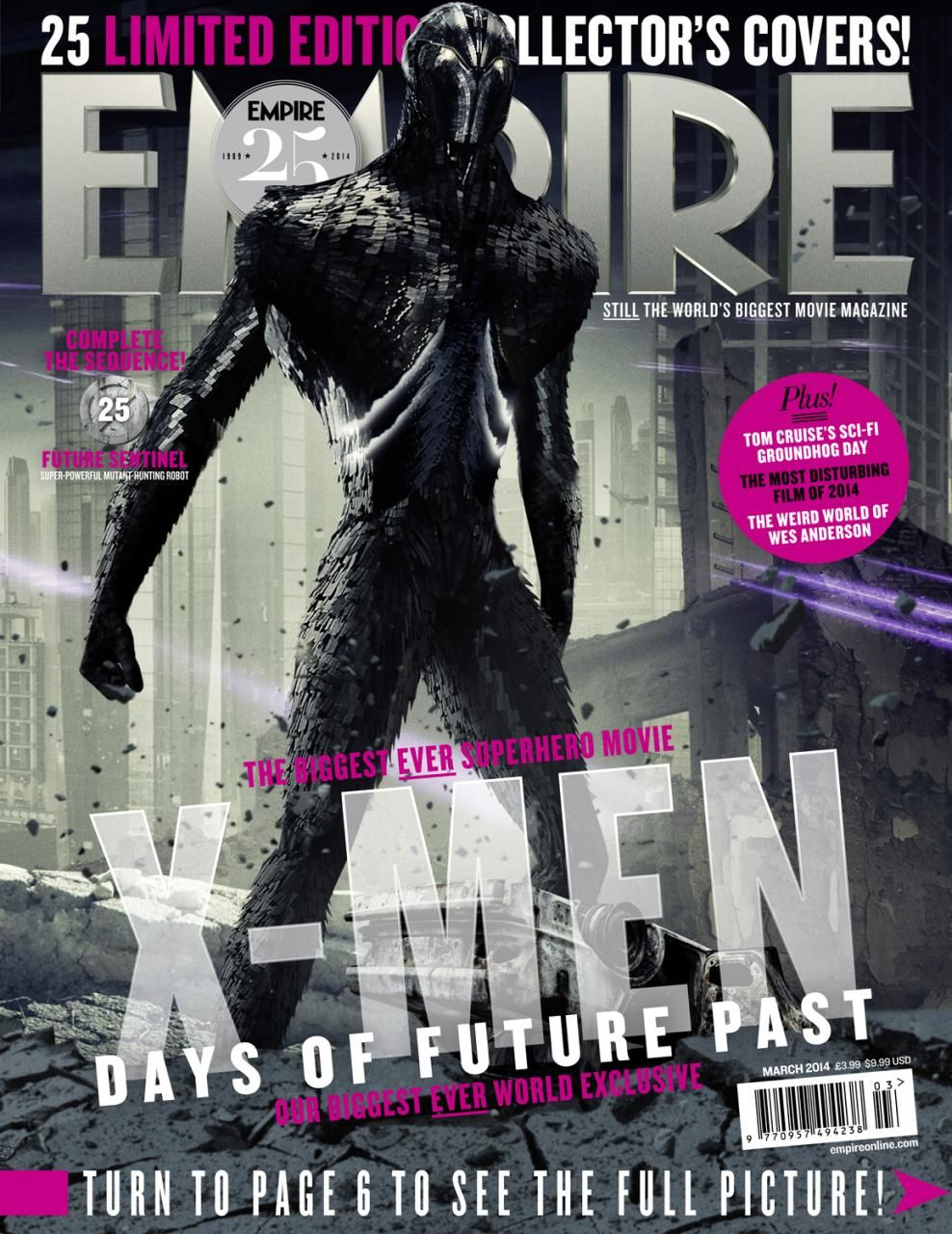 X Men Days Of Future Past Future Sentinel And More Magazine Covers Days Of Future Past X Men Movie Magazine