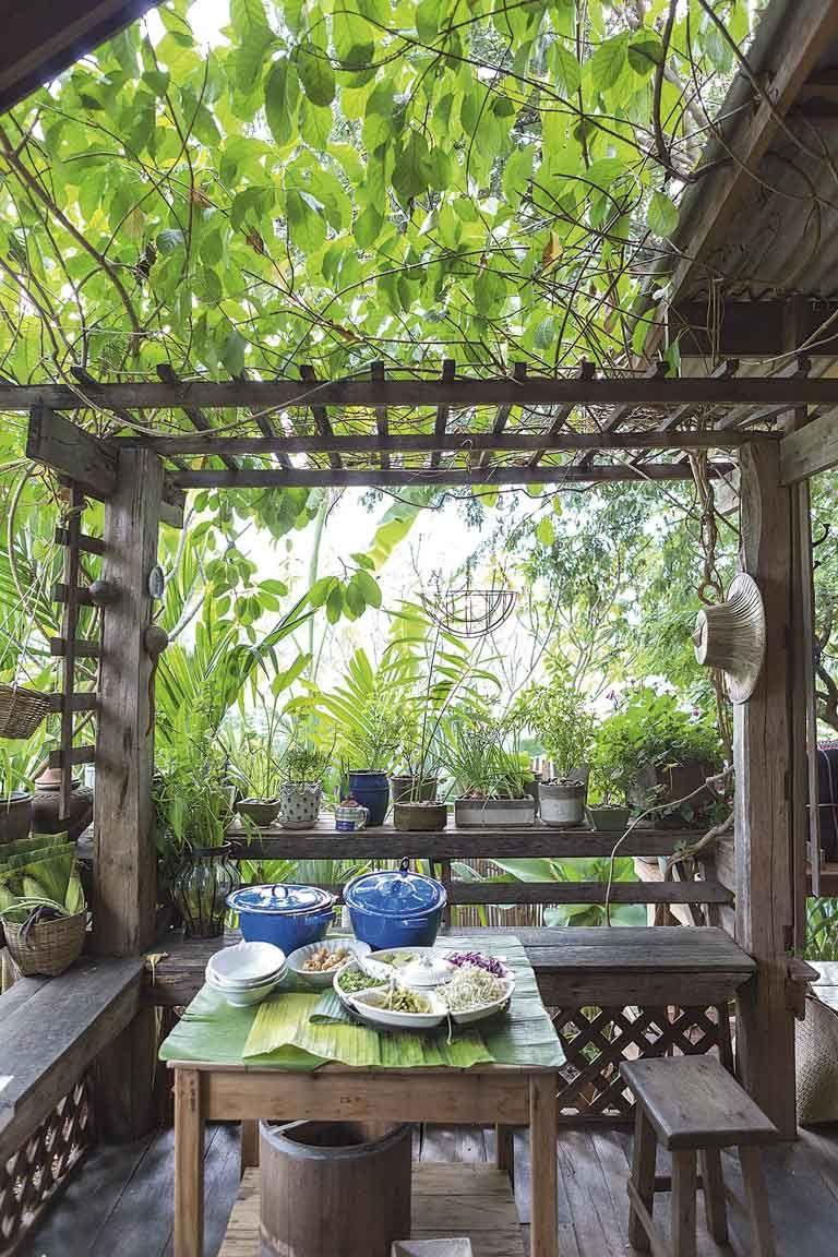 งามแสงเดือน บ้านไม้เจ้าเสน่ห์ (With images) Bamboo house