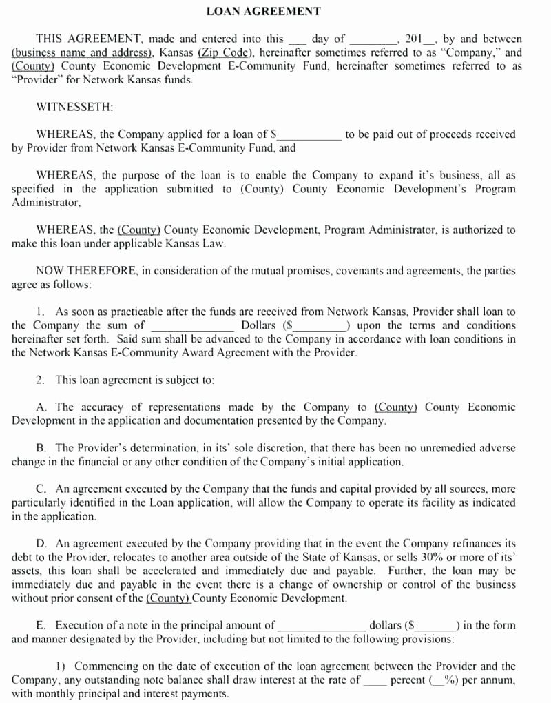Contract Template For Loaning Money Awesome Template Contract For