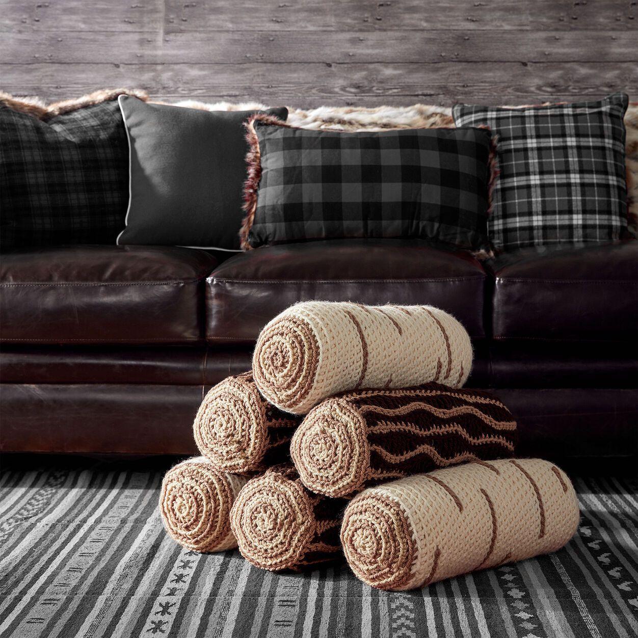 Bernat Crochet Timber Pillows, Oak Yarnspirations