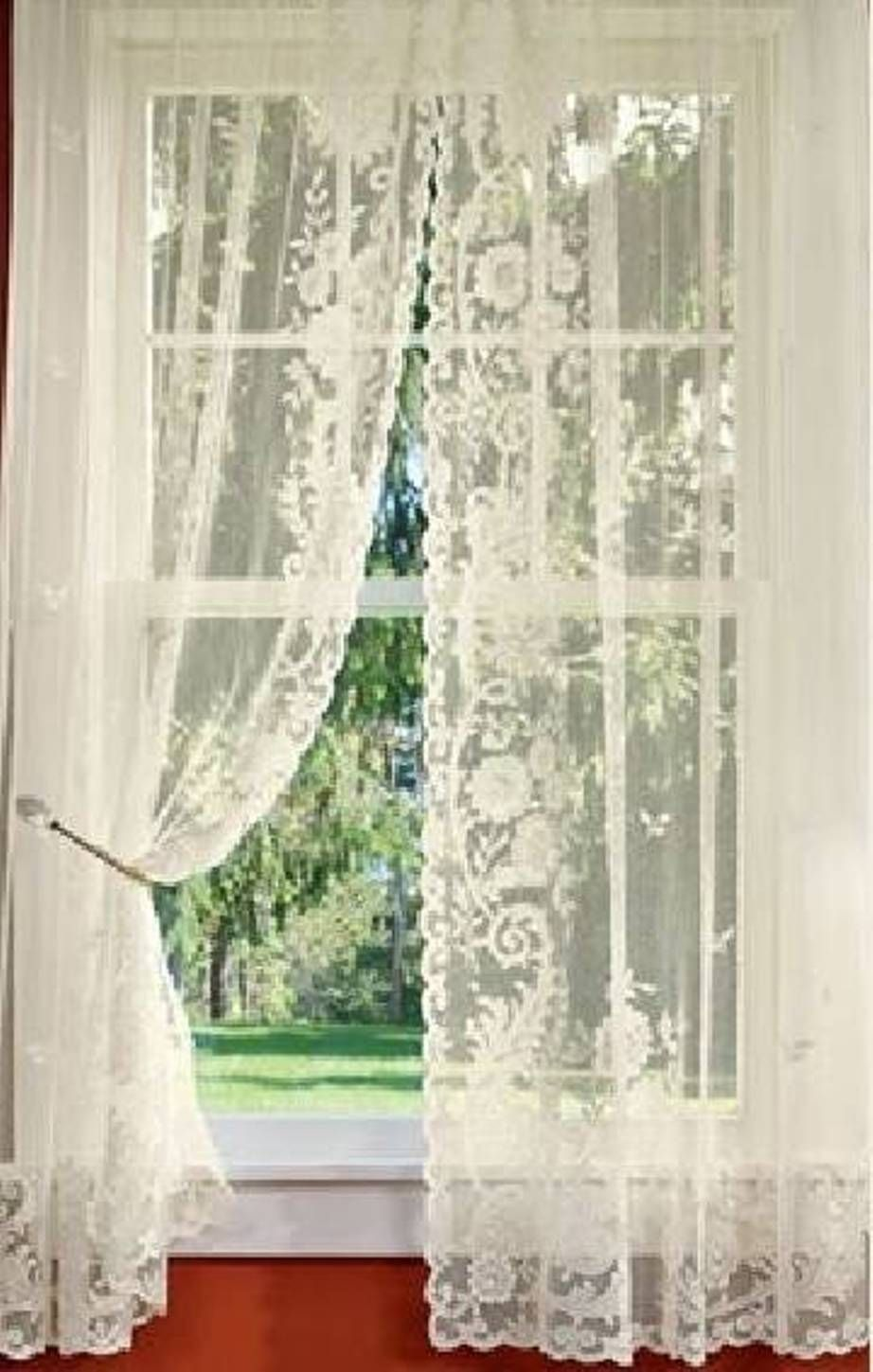 8 Best Panel Curtains Images On Pinterest: Home Design And Decor , Decorative Lace Curtains : Lace