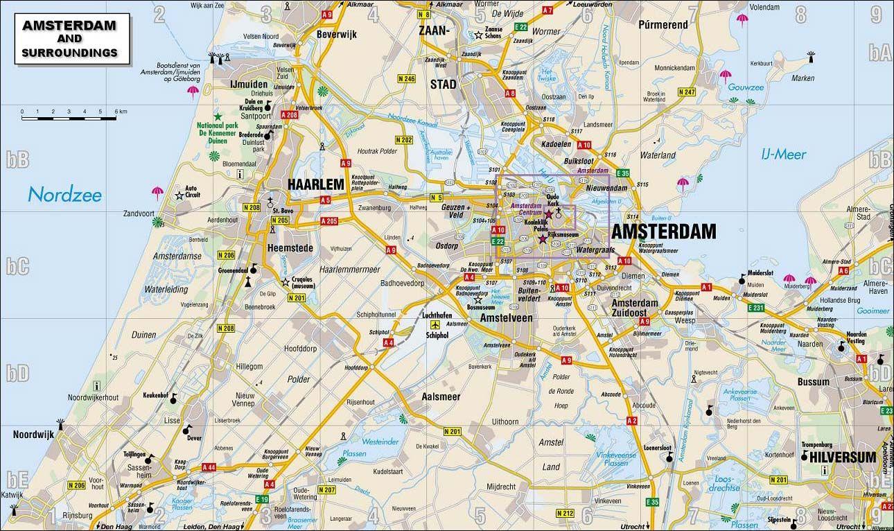 Amsterdam map Amsterdammapjpg Netherlands Holanda Pinterest