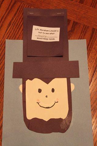 Abraham Lincoln Kindergarten Crafts Abraham Lincoln Craft