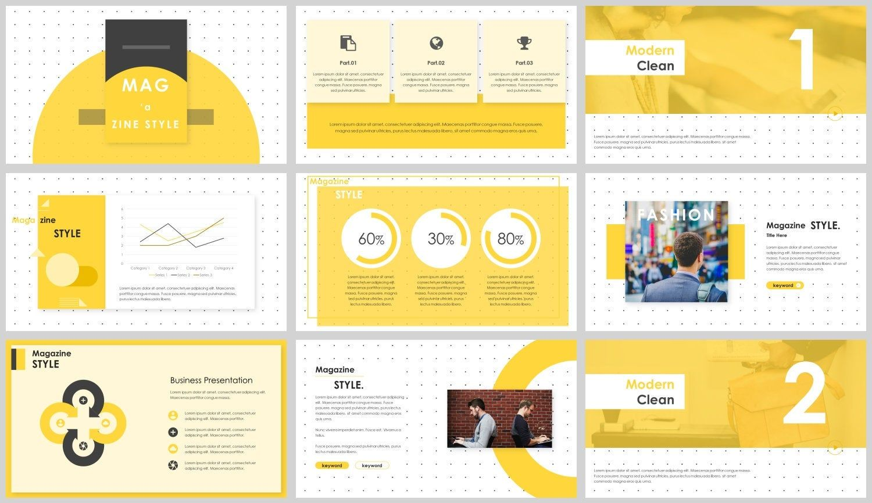 Yellow Minimal Work Report Powerpoint Template In 2021 Presentation Design Powerpoint Templates Powerpoint