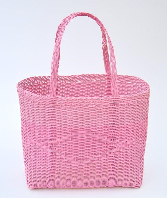 Woven Guatemalan Pink Bubblegum Plastic by HandcraftGuatemala