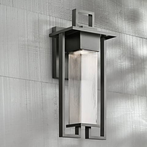 Kichler Chlebo 21 1 4 H Black Outdoor Halogen Wall Light 9y331 Lamps Plus Wall Lights Outdoor Lighting Kichler