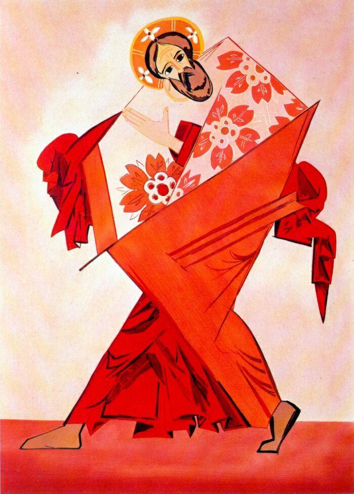Liturgy St Andrew Natalia Goncharova Wikiart Org Russian Folk Art Art Artwork Painting