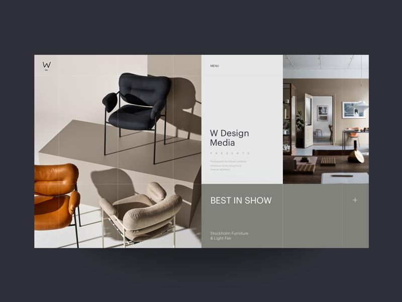 W Media Interior Design Blog Homepage Catalog Design Layout