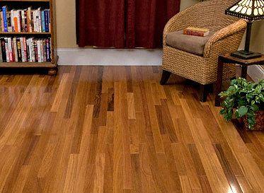 BELLAWOOD Select X  Brazilian Teak Clear Finish Solid - Brazilian teak hardwood flooring