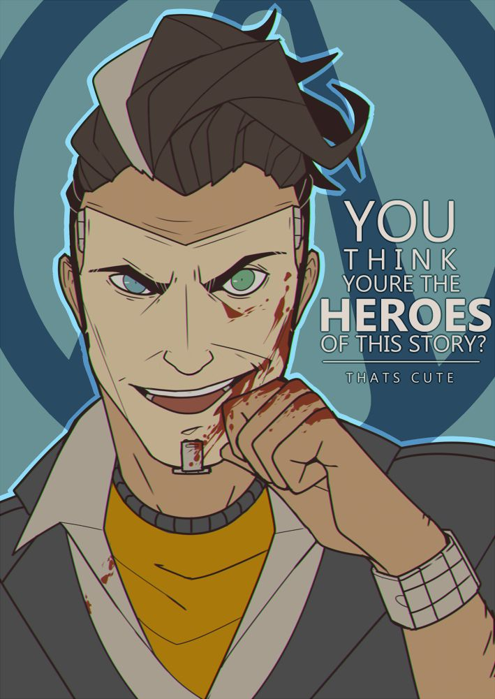 Handsome Jack Fan Art Illustration Handsome Jack