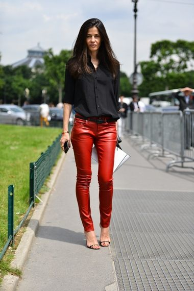 b354cf869a927e streetstyle #style #fashion #leather #pants | how to||leather + faux ...