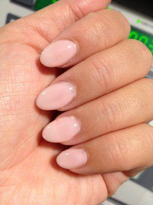 short oval claws  bubble bath opi gel color  short gel