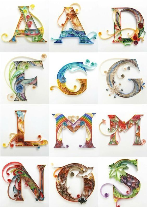 8b7a1a6a8298aa3e319815a264b6cecf Quilling Letter Templates Designs on