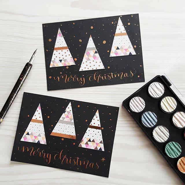 diy weihnachtskarten mit handlettering und kalligraphie. Black Bedroom Furniture Sets. Home Design Ideas
