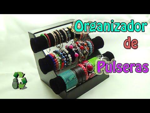 959813c2fecd Manualidades  Organizador de Pulseras (Reciclaje de tubos de cartón)  Ecobrisa - YouTube