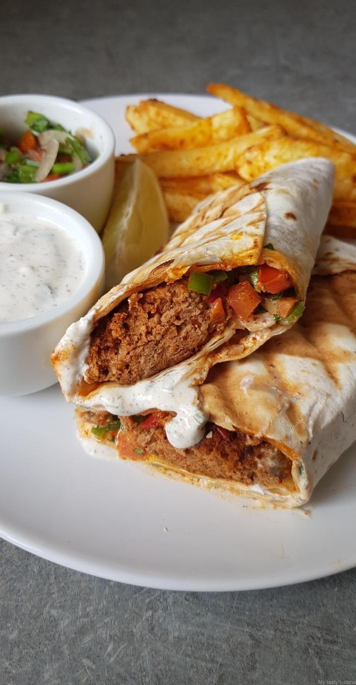 Sandwich turc, viande hachée et légumes | Viande hachée, Recettes de cuisine, Recettes de ...