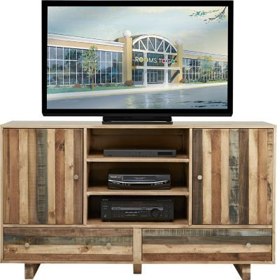Moss Creek Sand 64 In Console Rooms To Go Furniture Tv