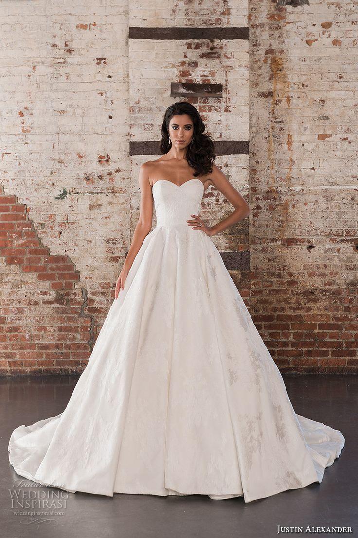 justin alexander spring 2017 bridal strapless sweetheart neckline ...