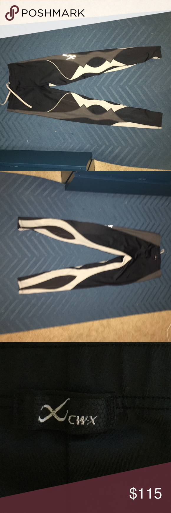 Multicolored CW-X Compression Leggings Black, gray, and white CW-X leggings. Worn a few times, great condition. Offers welcome. Pants Leggings