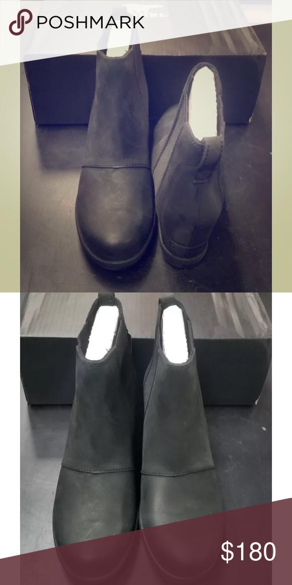 eaa46590669e Sorel lea wedge NIB. Sorel . Size 8 Sorel lea wedge NIB. Sorel Joan of  arctic wedge. black elk. Size 8 Sorel Shoes Wedges