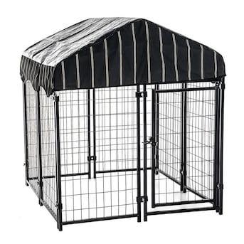 Lucky Dog 4 ft L x 4 ft W x 4 5 ft H Dog Box Kit in Black