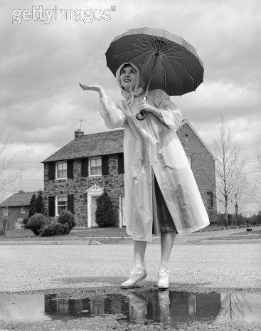 Vintage Umbrellas Raincoat Rubber Boots Vintage Umbrella