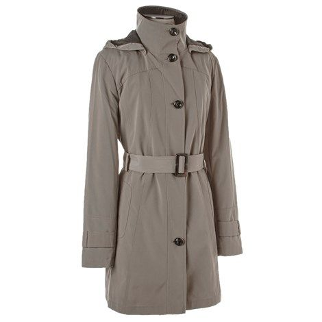 Belted Rain Trench w/Hood
