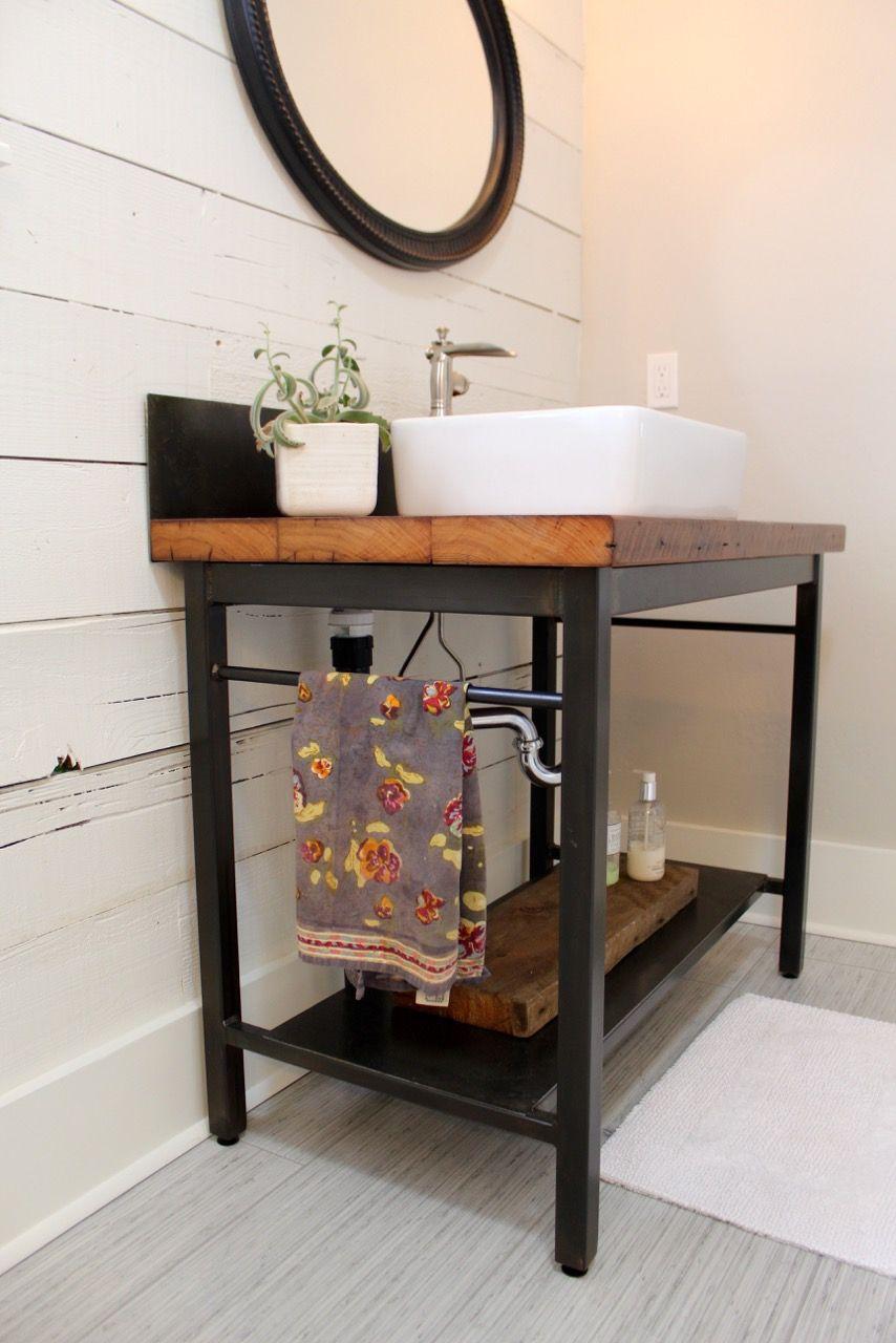 shabby chic bathroom vanity. Future Folk Supply Co. Custom Built Rustic Modern Bathroom Vanity And Metal Back Splash. BathroomsShabby Chic Shabby O