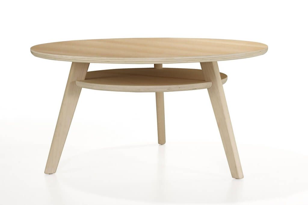 Simple And Clean Wooden Children Round Table Design